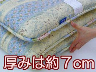 羊毛防ダ混吸汗性硬綿敷布団 クイーンサイズ 6.4Kg