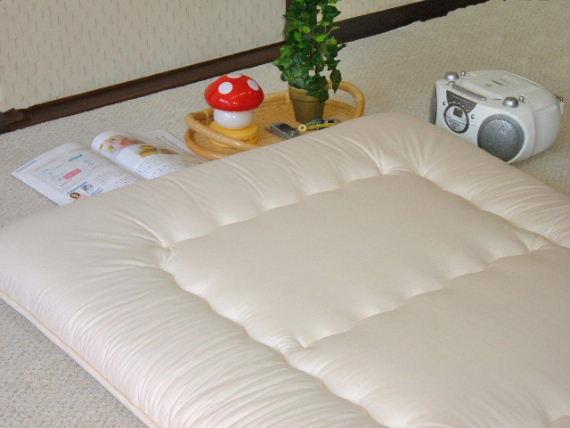 S羊毛防ダニ混二層敷布団 100cm×210cm 5.0kg