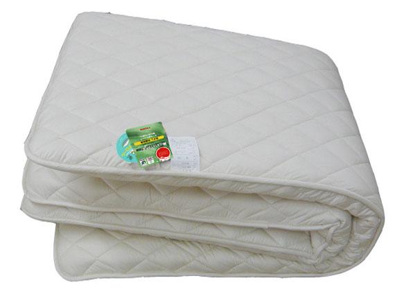 K羊毛混キルティング三層敷布団 180×210 7.5�s